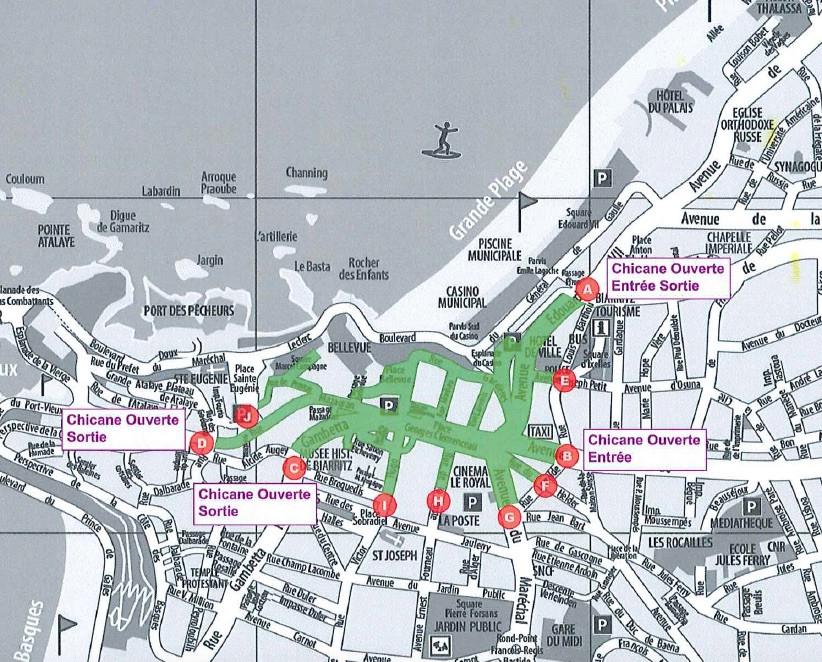 Plan de la Braderie de Biarritz 2019