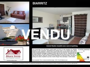 VENDU Grand Studio avec parking à BIARRITZ Beaurivage