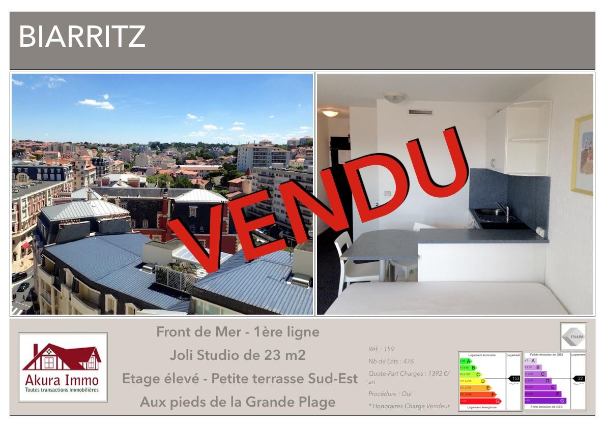 VENDU Studio Biarritz