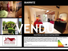 VENDU Grand Studio en Hyper Centre de BIARRITZ