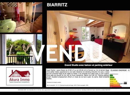 VENDU Grand Studio en Hyper Centre de BIARRITZ