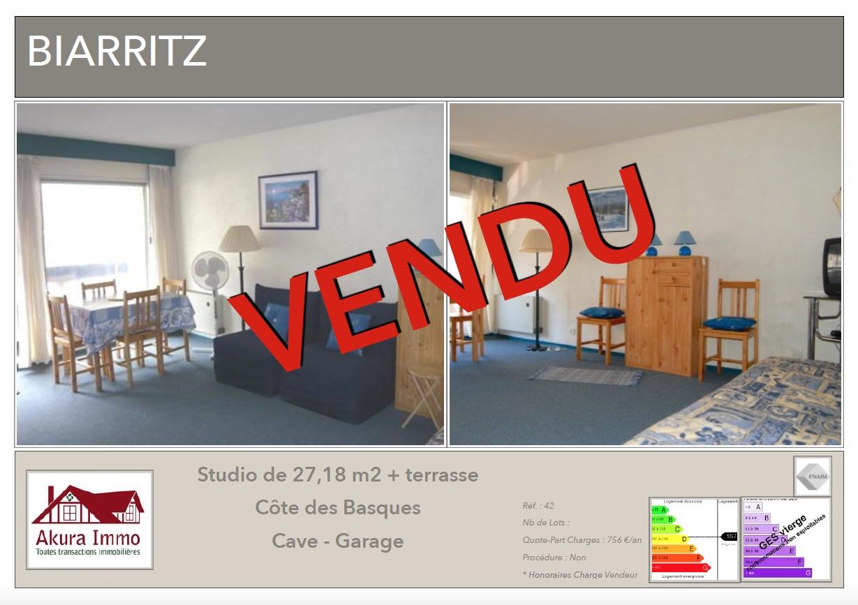 Studio vendu par Akura Immo Biarritz