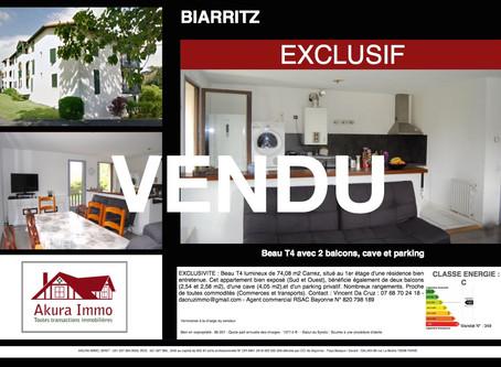 VENDU T4 à BIARRITZ Saint-Martin