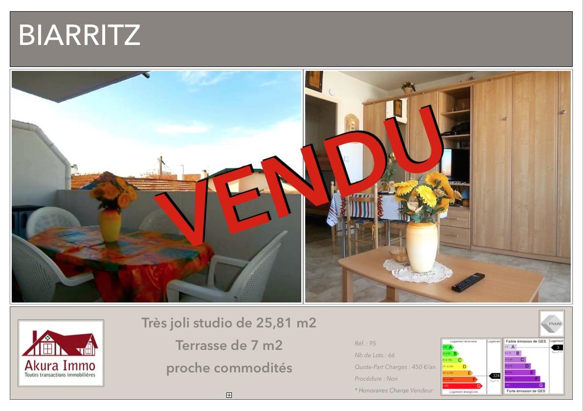 Studio vendu chez Akura Immo Biarritz