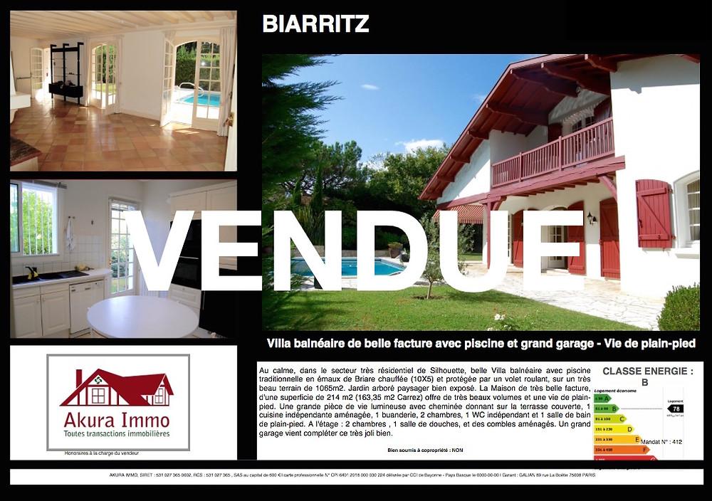 Superbe Villa balnéaire à BIARRITZ