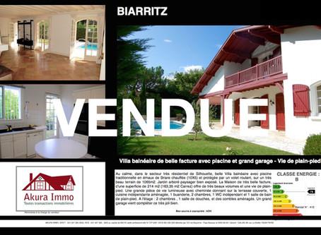 VENDUE Superbe Villa balnéaire avec vie de plain-pied à BIARRITZ