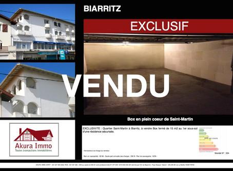 VENDU Box à BIARRITZ Saint-Martin