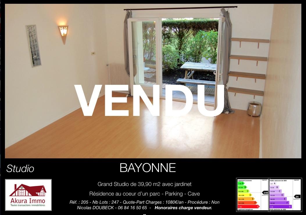 Vendu par Akura Immo Studio Bayonne Marracq