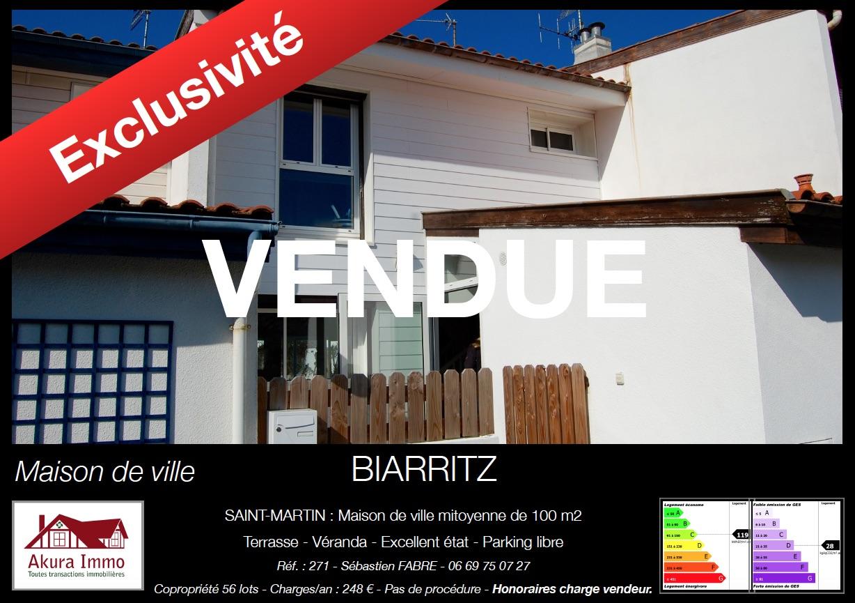 Vendue_chez_Akura_Immo_Maison_de_Ville_à_Biarritz_Saint-Martin