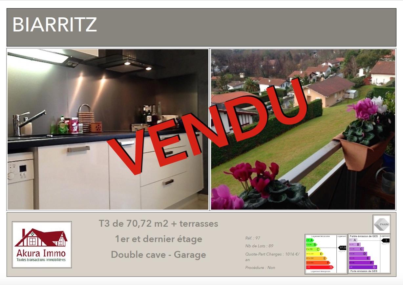 T3 vendu par Akura Immo Biarritz