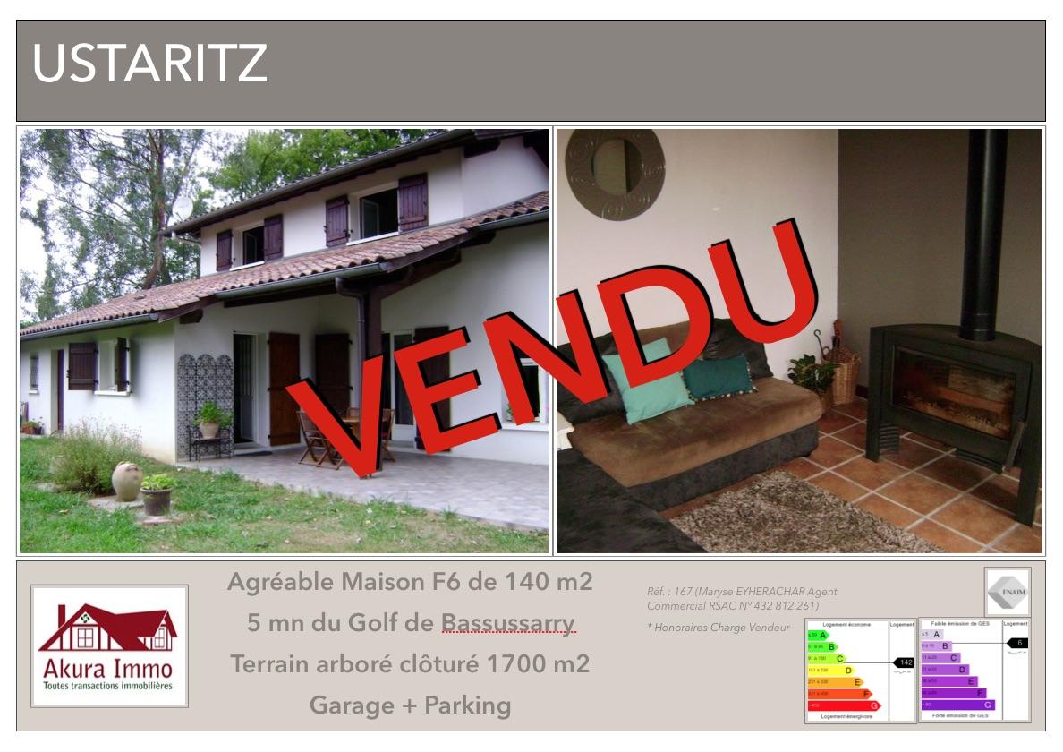 VENDUE Maison Ustaritz
