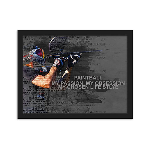 Paintball My Passion Framed matte paper poster