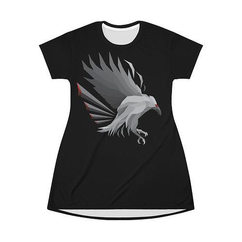 Raven  Print T-Shirt Dress