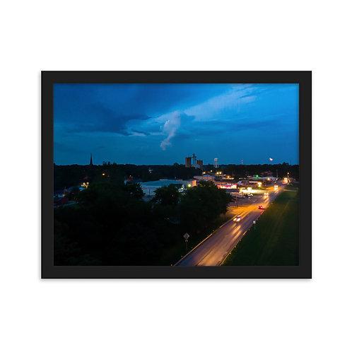 Chenoa Sky line Framed matte paper poster