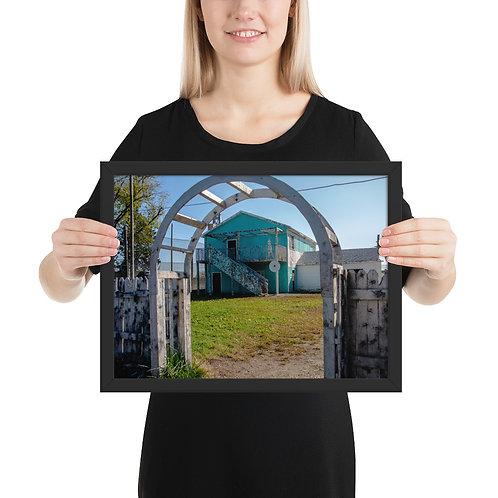 Framed matte paper poster Nuke Town