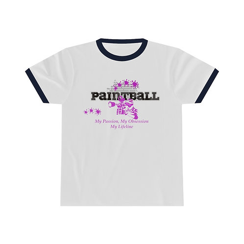 Paintball My passion My Obsession Unisex Ringer Tee