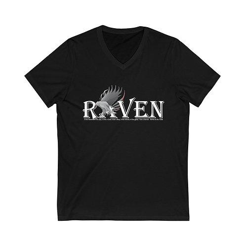 Raven Unisex Jersey Short Sleeve V-Neck Tee