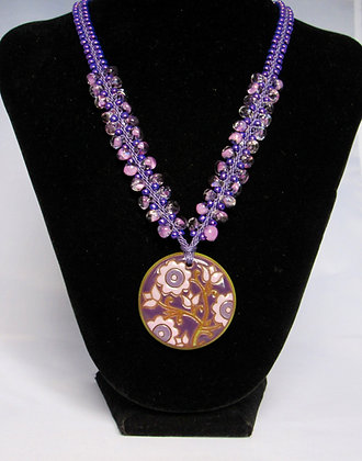 Shades of Purple Necklace with Golem pendant