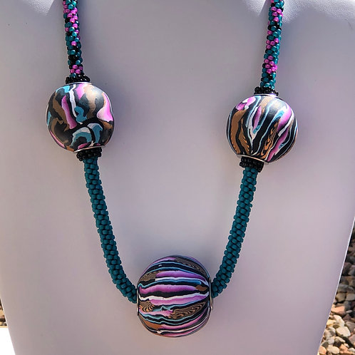 Polymer Clay Ball Necklace