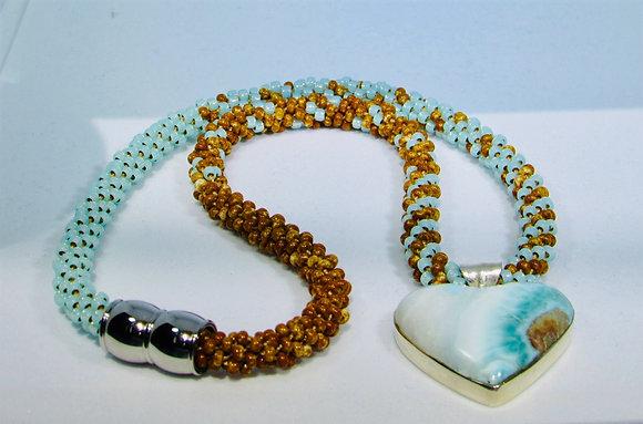 Lustrous Larimar Necklace