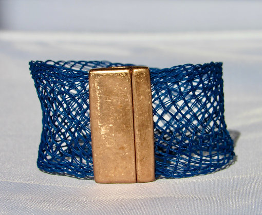 Open weave braided bracelet