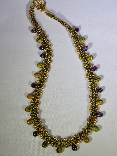Shades of Olive Necklace