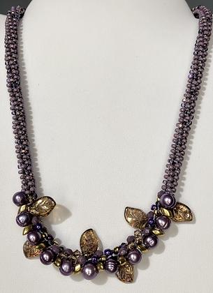 Lavender 7 strand Pearl Necklace