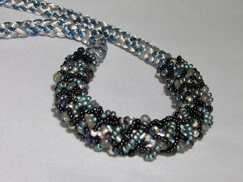 Shades of Blue Inside Out Edo Yatsu Necklace