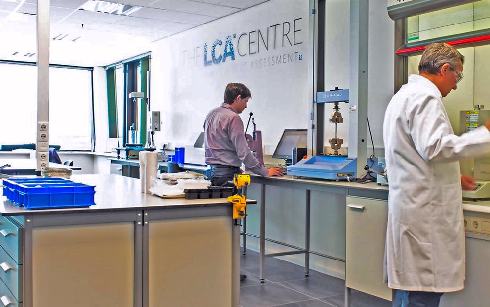 Scientists carrying out analysis at the LCA Centre laboratory