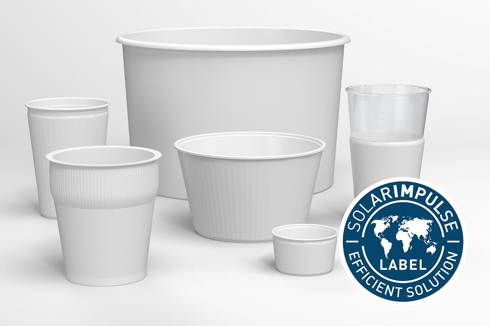 Picture of cups, pan;s, pots and other packaging types made with EcoCore