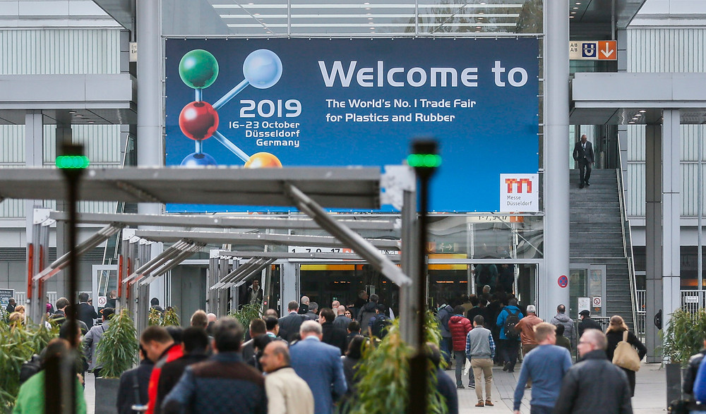 K2019 busy show entrance at Messe Dusseldorf