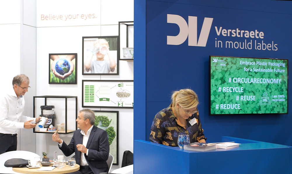 Verstraete in mould labels at K2019, stand B37 hall 5