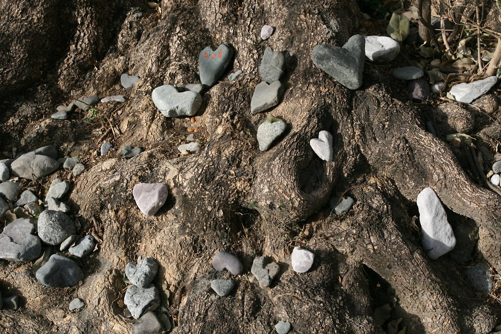 stones in heart form