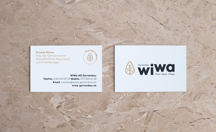 Businesscard WiWa AG Gartenbau