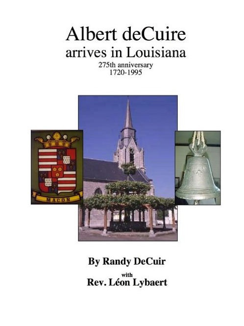 Albert deCuir arrives in Louisiana