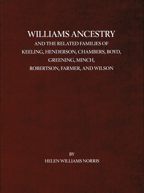 Williams Ancestry and Related Families