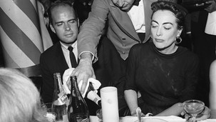 Joan checking her Champagne