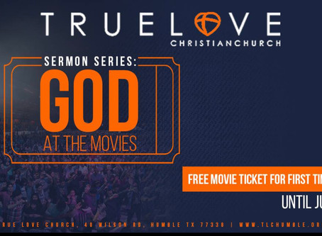 God at the Movies! Free Movie Ticket for First Time Guest