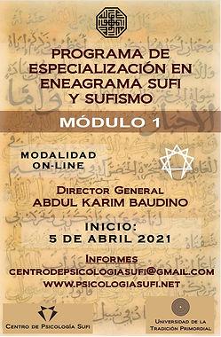 Eneagrama Sufi y Sufismo 2021 (MÓDULO 1)