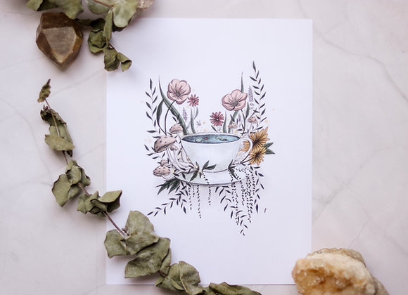 The Teacup Pond - 8.5 x 11 Print