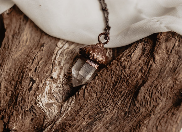 Quartz Acorn Necklace