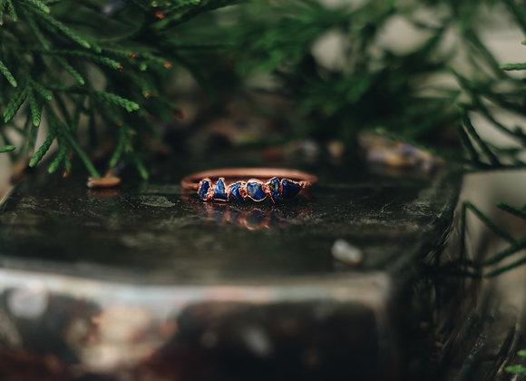 Lapis Lazuli Chip Ring