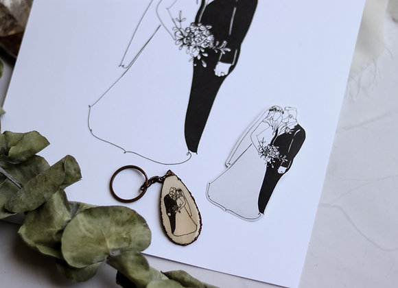 Custom Photo Drawing Keychain