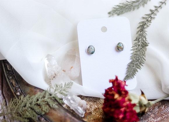 Opal Chip & Moss Earrings