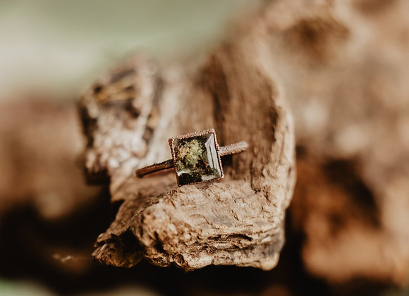 Square Moss Ring - Size 8