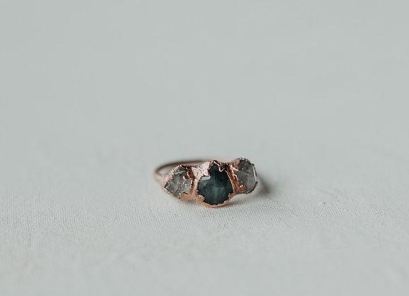 Emerald & Quartz Ring