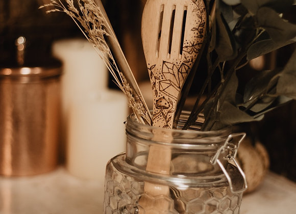 Crystals & More Bamboo Utensil