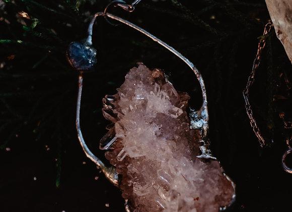 Sapphire & Quartz Necklace