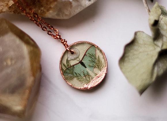 Luna Moth & Yarrow Necklace