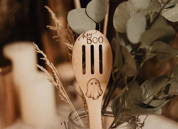 'Hey Boo' Bamboo Spoon